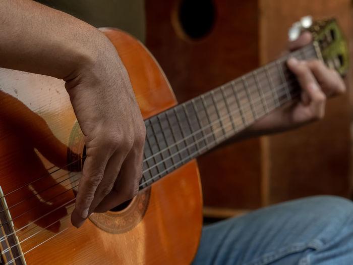 Guitar Close-up String Instrument Musical Equipment