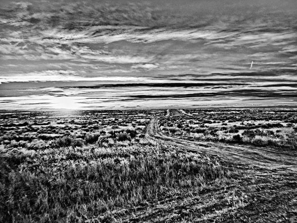 Atmosphere Badlands Black & White Black And White Power In Nature Remote Sunset Tranquil Scene Tranquility Worland Worland WY Wyoming
