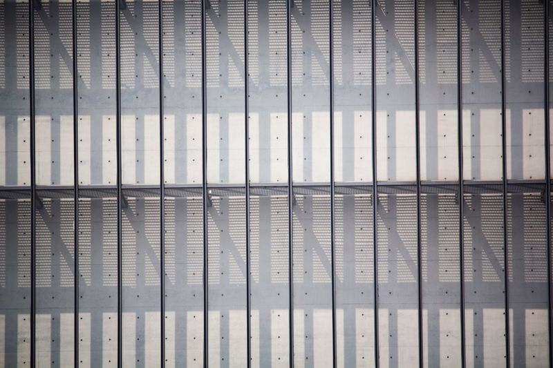 No People Pattern Full Frame Backgrounds Indoors  Day Close-up Corrugated Iron Building Exterior Wall Sunlight Focus On Shadow Shadow