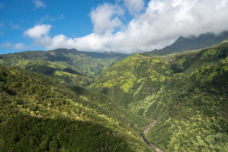 Helicopter tour of the Hawaiian island of Kauai with aerial shots of the waterfalls near the Na Pali coast Kauai Kauai Hawaii Hawaii Tourism Tour Helicopter Helicopter View  Aerial View Aerial Aerial Photography Aerial Shot From Above  Landscape Island Na Pali Na Pali Coast Waterfall Waterfalls Jungle