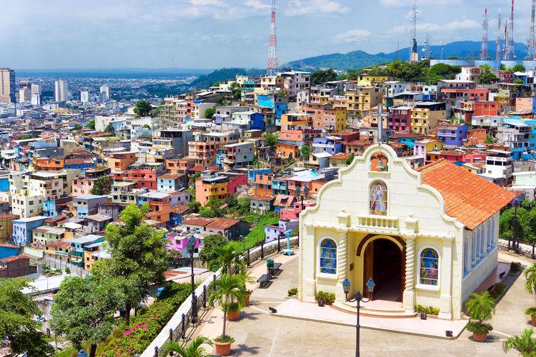Idyllic old town in ecuador