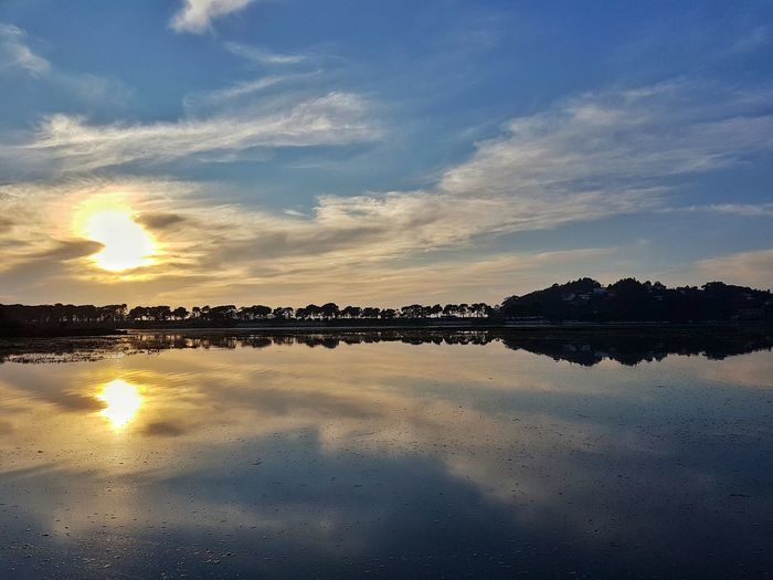 Water Reflections Water_collection Reflection Perfection  Water Relaxing Taking Photos Check This Out That's Me Water Reflection Talking Pictures River River Reflections Sky And Clouds Sunny Days Sunset #sun #clouds #skylovers #sky #nature #beautifulinnature #naturalbeauty #photography #landscape