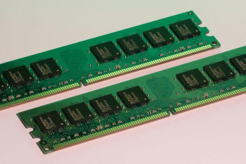 Computer Memory Used RAM Pair two used computer memory Modules Macro