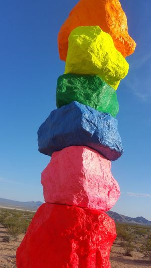 Sevenmagicmountains Public Art Vibrant Colors Photography MyPhotography Lovecolor Desert Beauty Vegasattraction Comeseethis Sevenmagicrockz Vegas Baby Beautiful Nature