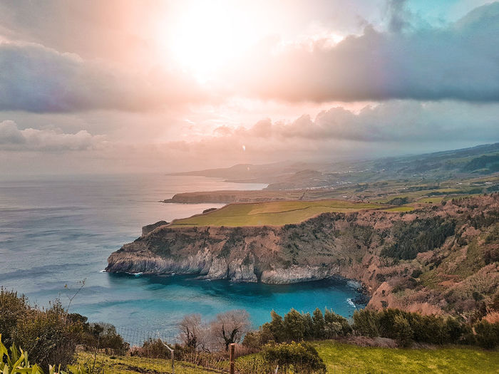 Azores Saomiguel Portugal Portrait Portugaldenorteasul Iloveazores Sao Miguel Açores Water Sea Sunset Beach Panoramic Tree Sunlight Sun Awe Red Seascape Rocky Coastline Romantic Sky Cliff Dramatic Sky Coastal Feature Coast Coastline Low Tide Tide Wave My Best Photo