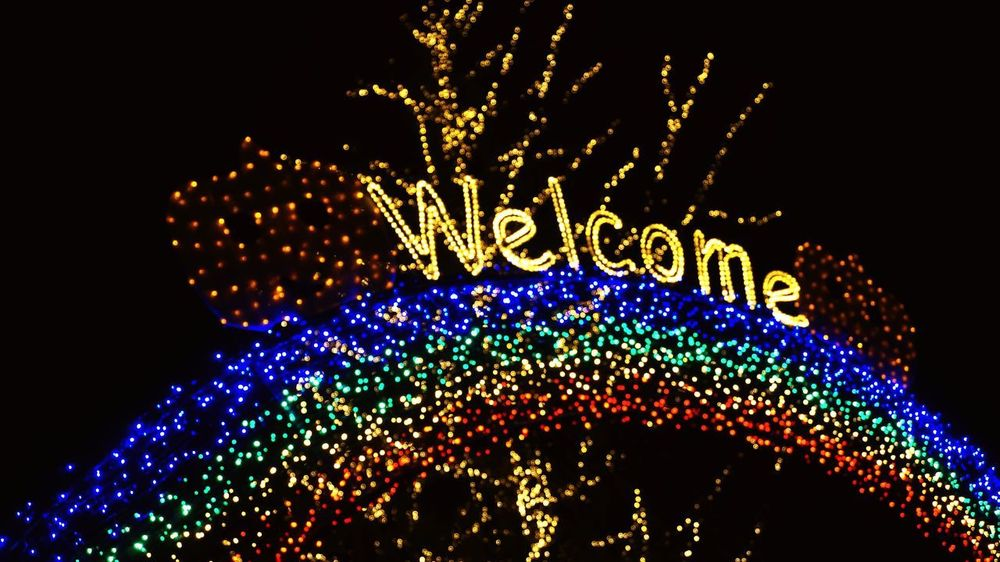 Illuminated Christmas Decoration Multi Colored Celebration Defocused Lighting Equipment Glowing Christmas Lights Close-up