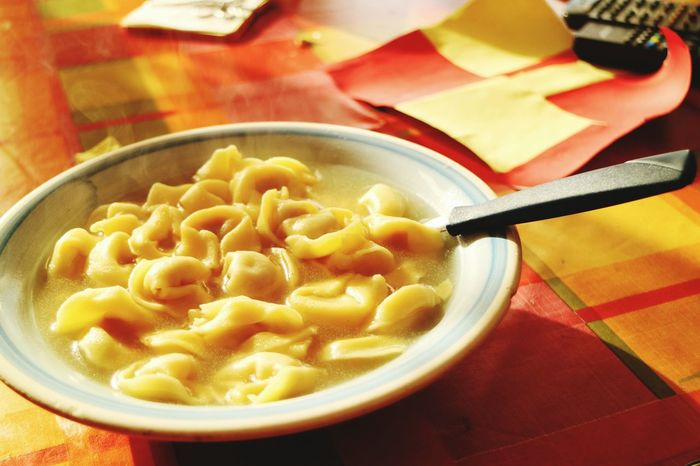 Bowl Ready-to-eat Food Indoors  Food And Drink Soup Close-up Freshness Egg Yolk Day Italian Food Goodlunch Tortellini In Brodo Tortellini  Italy🇮🇹 Paint The Town Yellow