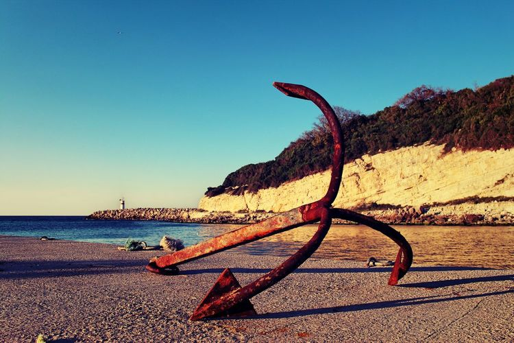 anchor and black sea #agva #anchor #anker #blacksea #boat #colorful #GoodDay #harbour #istanbul #Nature  #ocean #old #rusty #ship #sun #Turkey Beach Day Horizon Over Water No People Outdoors Sand Scenics Sea Water