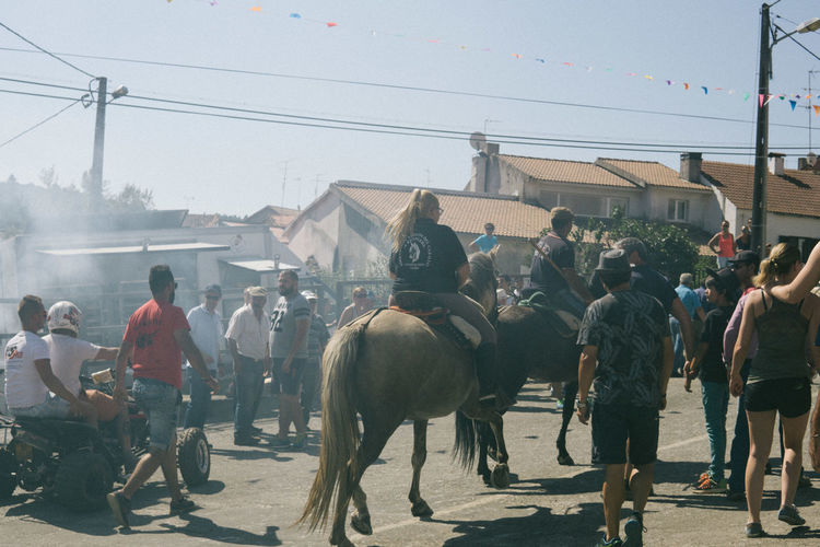 People Riding Horse During Event