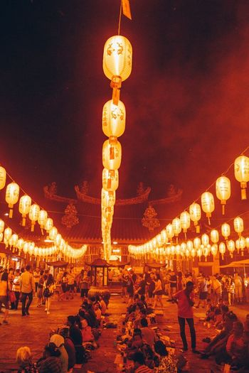 Illuminated Lighting Equipment Night Architecture Decoration Celebration Built Structure No People Holiday Lantern Street Light Street Hanging Building Exterior Festival Sky Christmas Decoration Outdoors Low Angle View Light