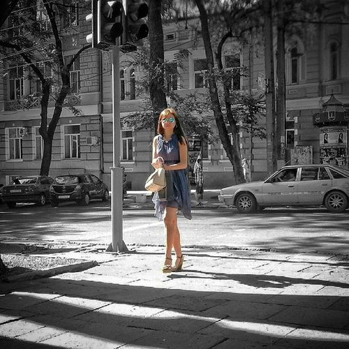 Black&white&color Splash Girl Streetphotography