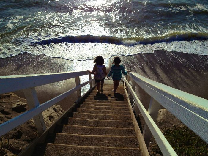 The Essence Of Summer Stairs_collection Stairs To The Water Stairs To Beach Friends Friendstime Ocean Photography Shell Beach,CA Staircase Perspective Stairs Down Stairs To The Sea