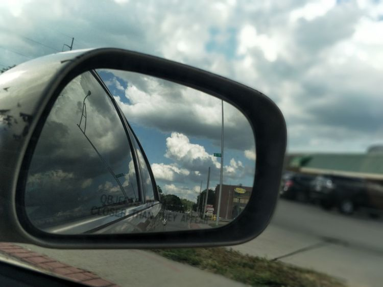 The Week On EyeEm Car Mirror Side-view Mirror Cloud - Sky Road Sky Continuation First Eyeem Photo EyeEmNewHere Go Higher Inner Power