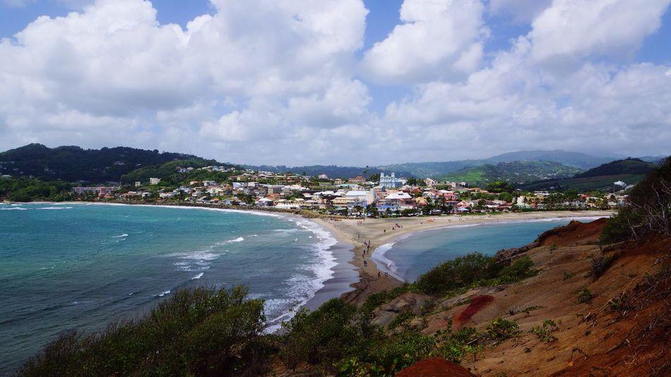 West Indies Sand Formation Caribbean Seascape Coast Tombolo Sea Island Landscape Feel The Journey