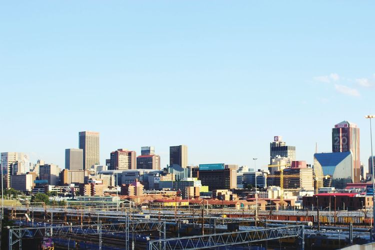 Joburg City Jozi South Africathey say its the only city where a man will lose all his teeth before he runs out of prey