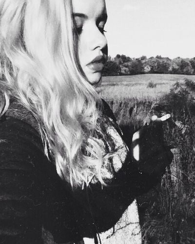Autumn Smoking A Ciggarette Followme Love