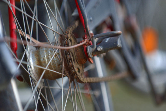 Midsection Close-up Metal Outdoors No People Outdoor Photography Outdoor Day Fahrradabstellplatz Transportation The Street Photographer - 2017 EyeEm Awards Focus On Foreground #urbanana: The Urban Playground