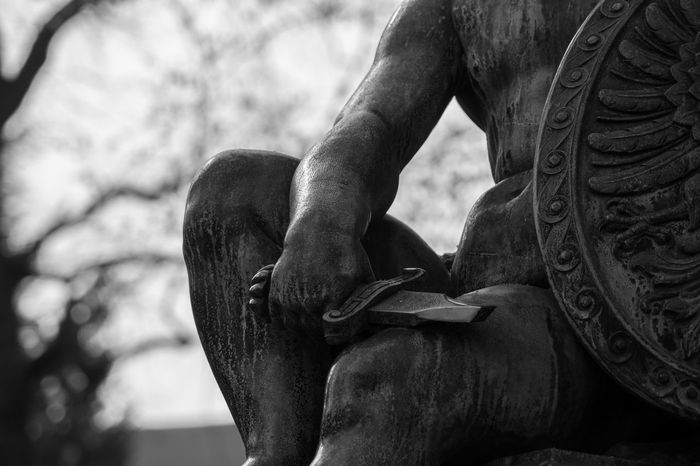 Art Black & White Blackandwhite Blackandwhite Photography Bw_collection Bw_lover Bw_portraits Closeup Day EyeEm Best Shots EyeEm Gallery Figure Focus On Foreground Ireland Nature Noir Et Blanc Outdoors Reflection Statue Statues Stella Sword