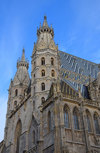 Low angle view of st stephens cathedral against sky
