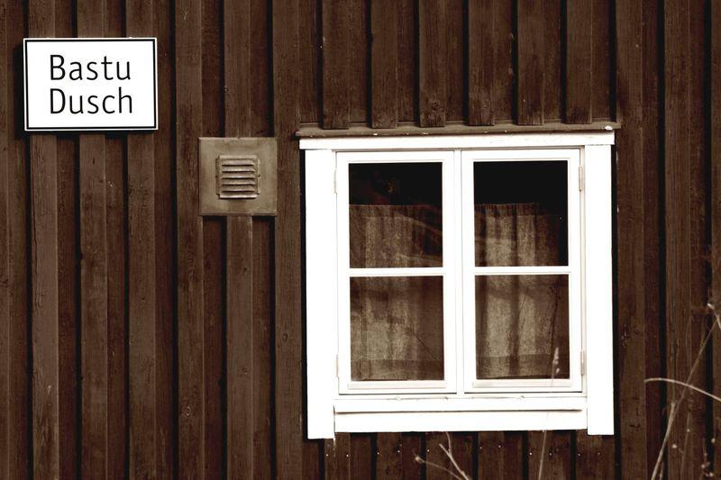 Old house. Bastu & Dusch Sauna & Shower Sweden Window Wood - Material Outdoors