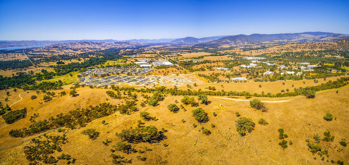 Aerial panorama of small rural settlement in Australia Albury Australia Australian Landscape Drone  Panorama Panoramic Scenic Aerial Aerial Landscape Aerial View Beautiful Woman Beauty In Nature Bright Day Clear Sky Day Drone Photography Environment Landscape Nature No People Non-urban Scene Outdoors Plant Scenic View Scenics Scenics - Nature Sky Tranquil Scene Tranquility Tree Wodonga