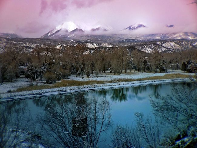 A view of the Collegiate Peaks from above the Arkansas River in Colorado The Collegiate Peaks include some of the highest mountains in the Rockies. The section is so named because several of the mountains are named for prominent universities.