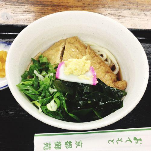 うどんの日なので冷やしキツネうどん Udon Noodles Lunch Foodporn
