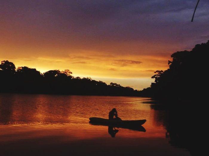 Amazonas Colombia Paradise Sunset River