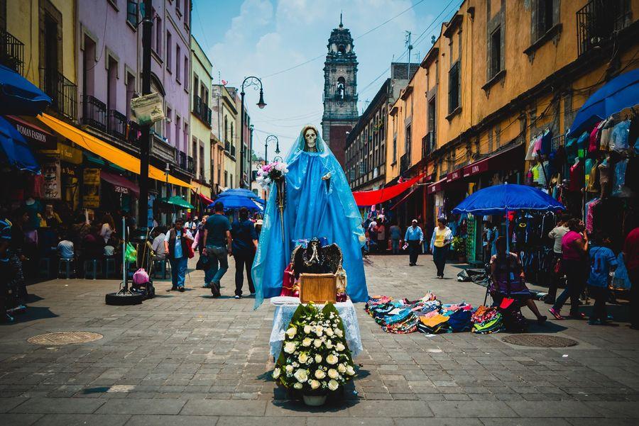 Centro Historico Cdmx Mexico City Santa Muerte Tradition Mexico Travel Belief Death