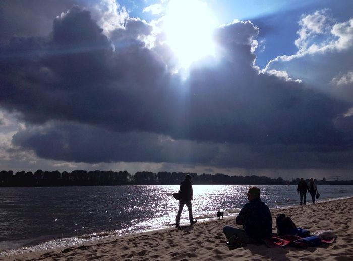 Urban Escape Hamburg Silhouette Clouds And Sky