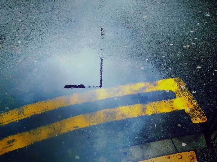 Street Photography Urban Reflections Puddle After The Rain Street Reflections Wet Day Yellow Outdoors No People