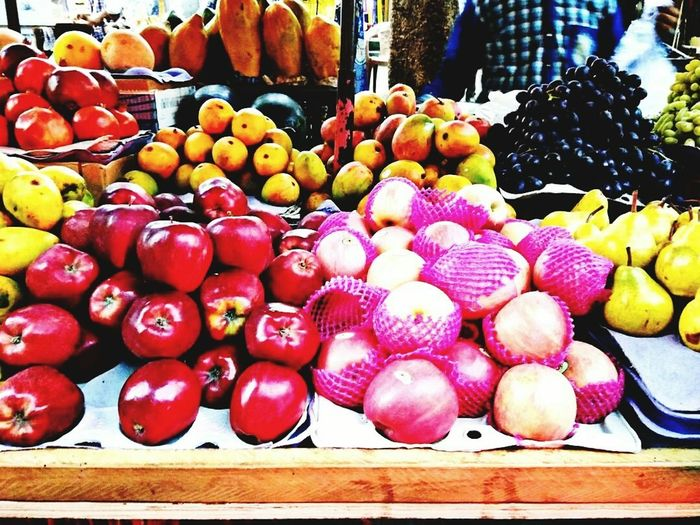 Fruits... Next word to healthy ❤ Is A Fruit🍎 In Season🌤 At All Times⏳, And Within🤗 Reach Of Every Hand👐..... Healthy Eating Food And Drink Freshness Food Fruit For Sale Large Group Of Objects Market Stall Retail  No People Market Choice Day Outdoors