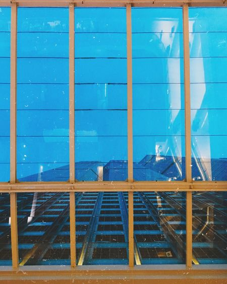 Observation Blue Cage Grid Day Outdoors Geometric Shape Full Frame Architecture Construction Perspective #distortion #color #photo_edit