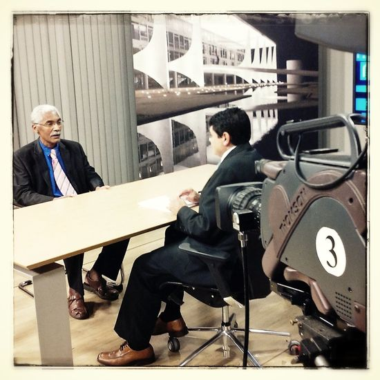 Gravação do Além Da Notícia com o Deputado Domingos Dutra