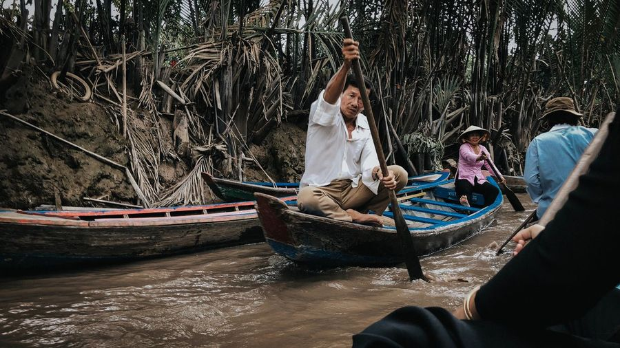People sitting in boat