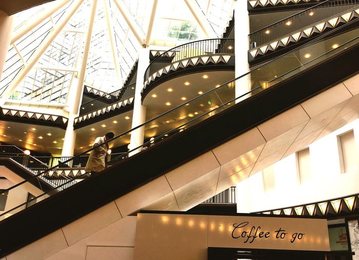 Illuminated Architecture Built Structure Indoors  Escalator Railing Low Angle View Transportation On The Move Connection Tourism Travel Destinations Lighting Equipment Blurred Motion Travel Modern Famous Place Staircase Convenience Steps Berlin Shopping Mall The Q Urban Lifestyle Streetphotography