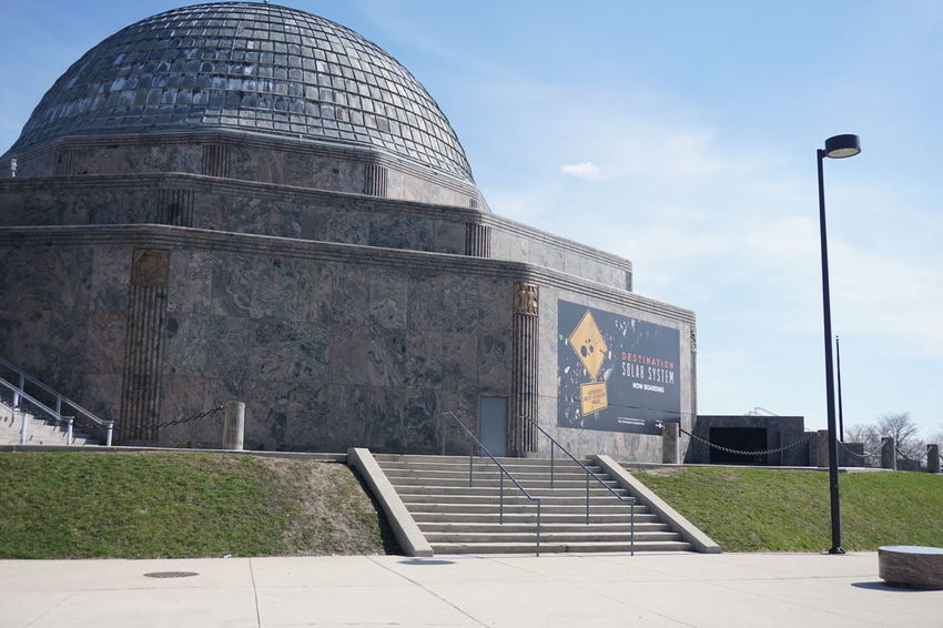 Adler Planetarium Chicago Adler Architecture Building Exterior Built Structure Cloud - Sky Day Dome History No People Outdoors Sky Travel Destinations