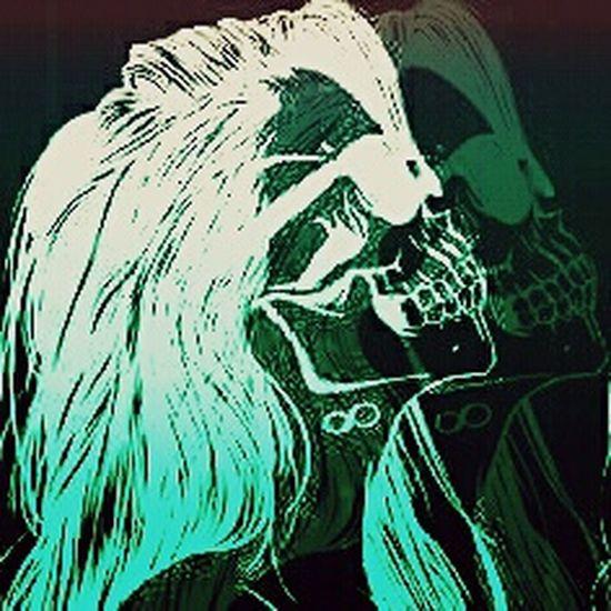 Living Dead Girl.... Negative Art Rebel Selfportrait LivingDeadGirl Popular Photos Myphoto Skull Faces Of EyeEm