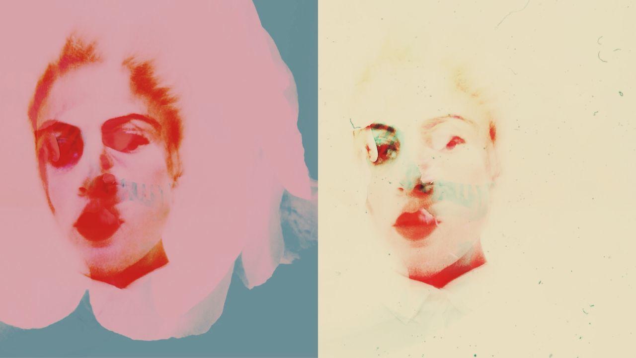 Multi Colored Illustration Of Woman