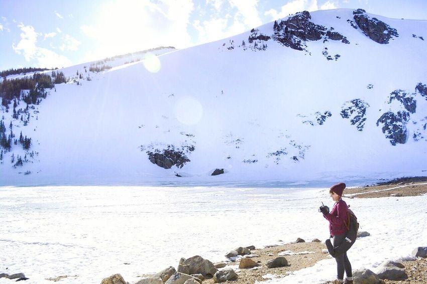 Nature Glacier Colorado Mountains Snow Hiking