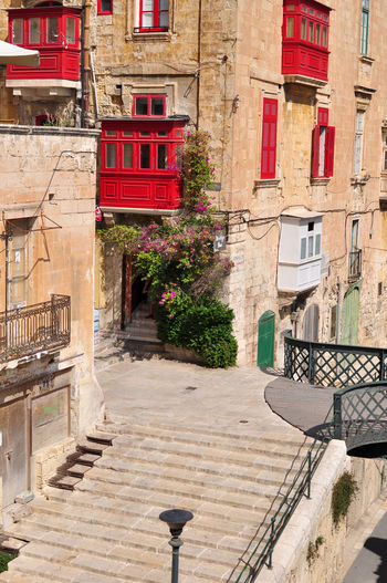 Beautiful Malta! Architecture Britain British Building Exterior Built Structure Call Box City Day Destination Island Malta Mediterranean  Outdoors Phone Plant Red Sighseeing Street Summer Summertime Telephone Box Travel Travelling Valletta Window