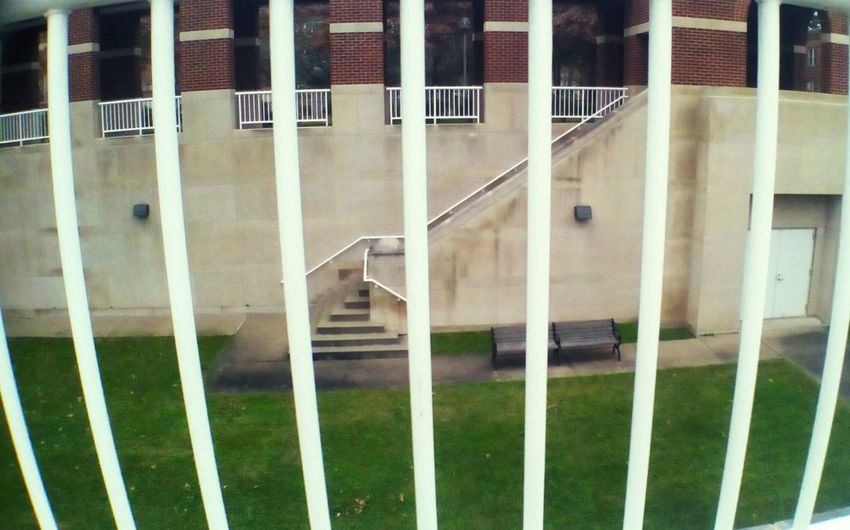 Outdoors Architecture Railing Stairs Bench