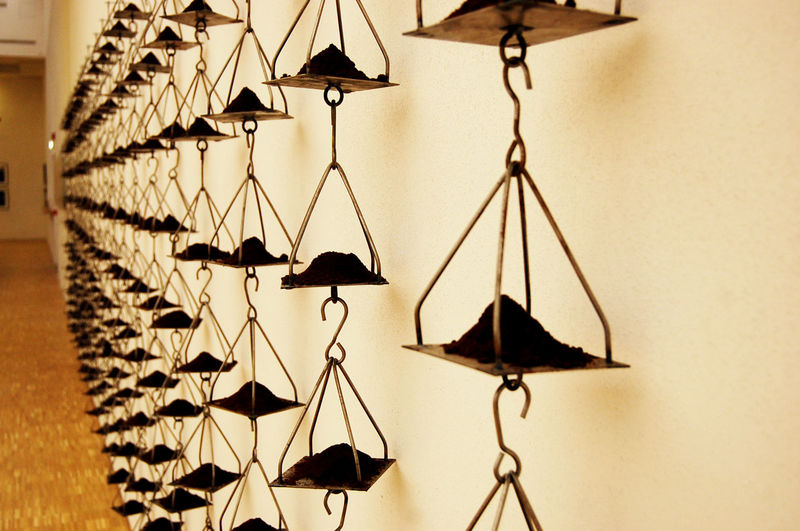 Close-up of hanging light