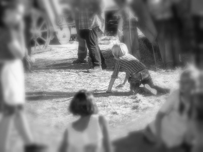 Children Wheat Fall On The Ground Focus On Background Large Group Of People Nature Outdoors Party People Playing Real People Selective Focus Wheat Harvesting,