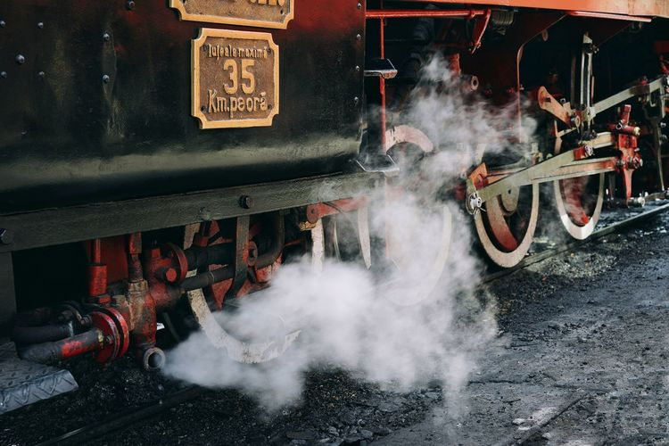 Steam Steam Locomotive Smoke - Physical Structure Steam Train Locomotive Train Rail Transportation Railroad Track Train Track Train - Vehicle Sprinkler