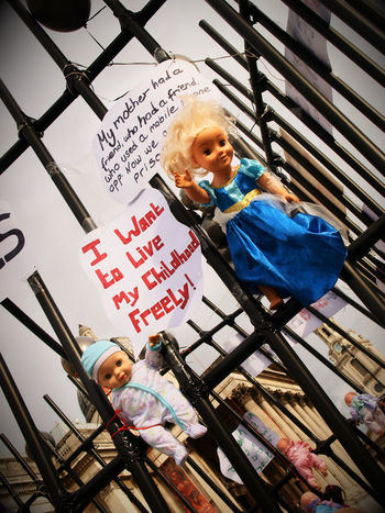 Turkish Human Roight Protest. Turkey has too may political prisoners. London. Trafalgar Square. 28/10/2017 #668babies Children's Rights Human Rights Olympus Politics Protest Steve Merrick Toy Doll Turkey Childhood Childhood Memories Human Rights Abuse Human Rights Movement Installation Police State Political Prisoners Politics And Government Prison Stevesevilempire Zuiko