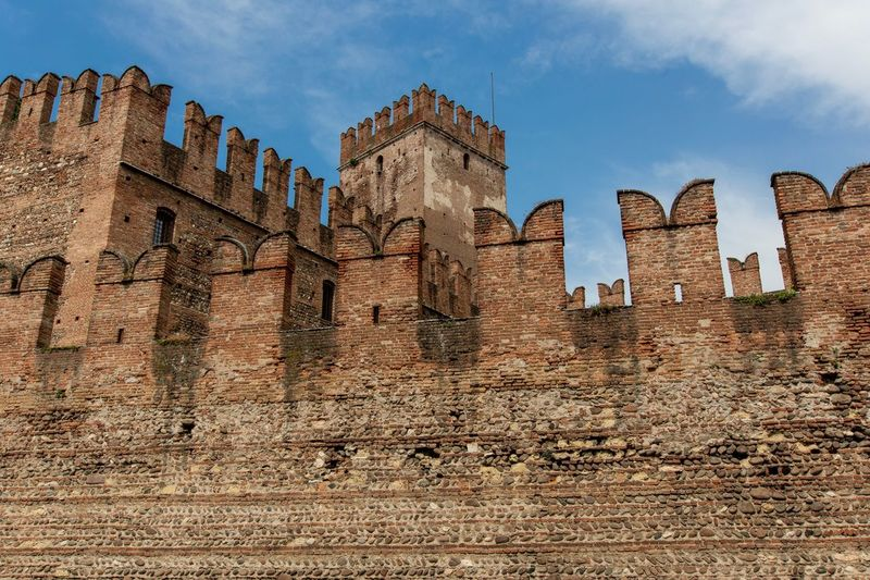 Castelvecchio Architecture History Built Structure The Past Building Exterior Sky Building Travel Old Travel Destinations Cloud - Sky Ancient Fort Outdoors Day Old Ruin Low Angle View No People