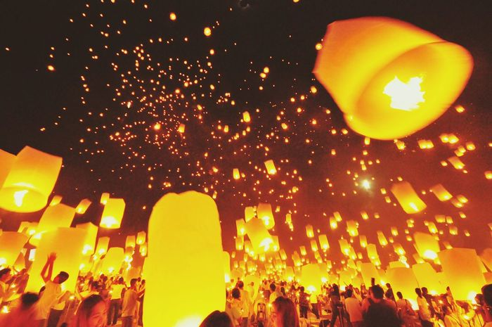 Capture The Moment Night Lights Thailand Yee Peng Festival