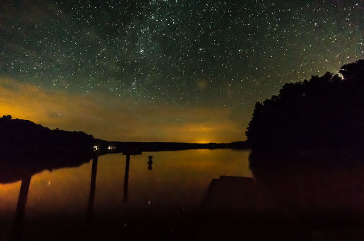 Lake. Clouds. Stars. / Astronomy Close-up Dark EyeEm Best Shots EyeEm Nature Lover Illuminated Lake Lakeview Landscape Long Exposure Milkyway Nature Nature Night No People Outdoors Reflection Sky Star - Space Star Field Stars Tranquil Scene Water Water Reflections Weltraum The Great Outdoors - 2017 EyeEm Awards