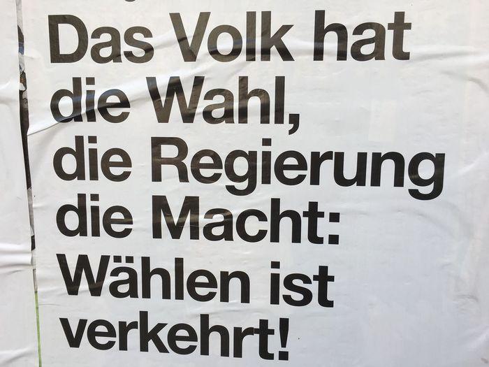 Interessante These Geht Wählen Btw17 Typography Plakat Bold Typography